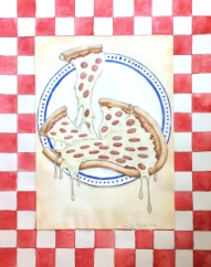 """""""Pizza Forever"""" (11'' by 14'')"""