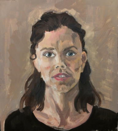 """""""Portrait Study"""" Oil on Paper (11"""" by 14"""")"""
